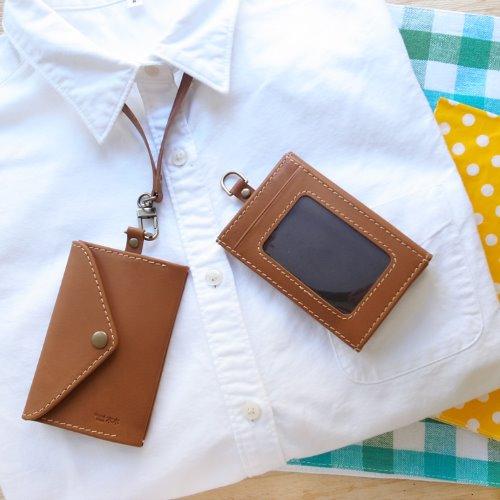 MUMU木木識別證,手工皮革(深咖啡)
