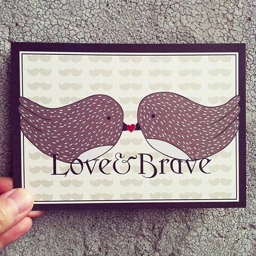 《KerKerland》Love&Brave☉愛與勇氣-明信片