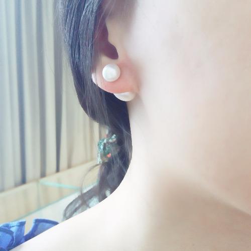 夏【成。雙】天然淡水珠 耳環
