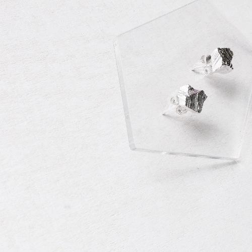 ▪ Square Stone Earring ▪ 方形小石子耳環 ▪ 風景系列 純銀耳環 ▪