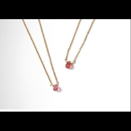 十月份誕生石-CHARM/粉色碧璽Pink tourmaline/ピンクトルマリン鎖骨項鍊