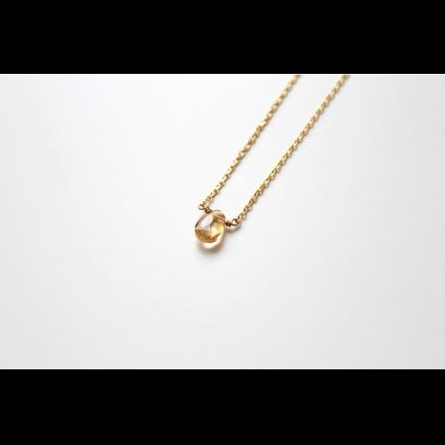 十一月份誕生石-TREASURE/黄水晶Citrine鎖骨項鍊