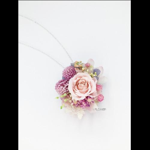 保鮮花項鏈(襟花,兩用性)