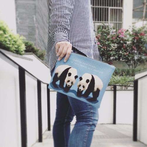 SHUKI 熊貓 手拿斜揹包 Panda Clutch Handbag
