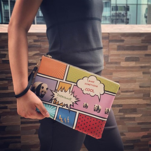 SHUKI 漫畫熊貓 手拿斜揹包 Pop Art Comic Panda Clutch Handbag