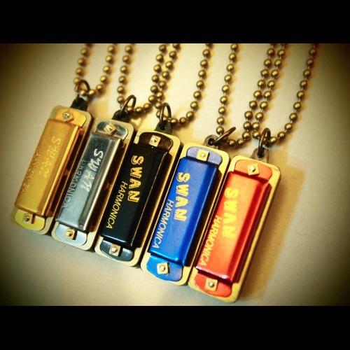 復古迷你小口琴長項鍊 Mini harmonica (圓珠鏈款