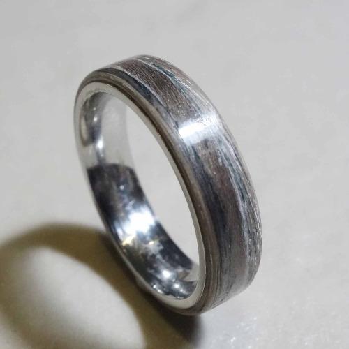 木頭戒指/灰楓木鋼戒