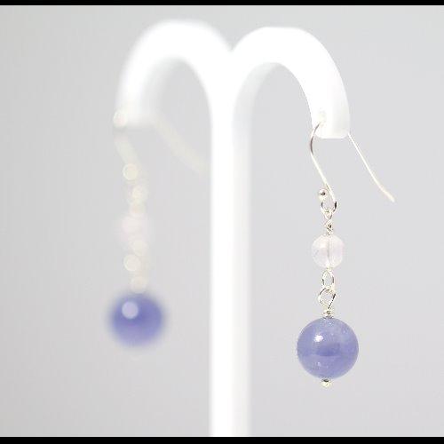 夢幻丹泉石〈Tanzanite〉純銀耳環【ColorDay】