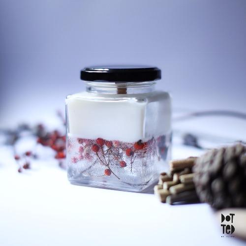乾花香薰大豆蠟燭 - 白茶 (White Tea)