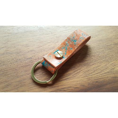 手工縫製 - 人手上色彩繪的皮革匙扣