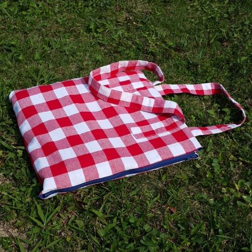 Picnic Red - 方形野餐地墊包包