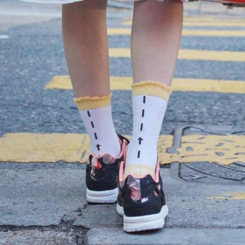 Yellow Umbrella White Socks