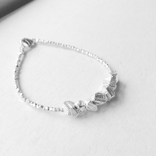 ▪ Stone & Sand Bracelet ▪ 風景系列 純銀手鐲 ▪