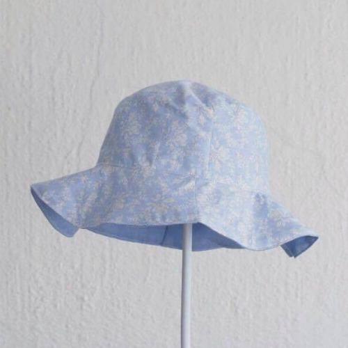 湖水藍色純棉雙面漁夫帽