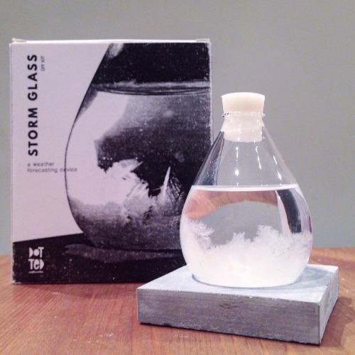 Storm Glass DIY Kit | 天氣預測瓶手工包 (連水泥底座)