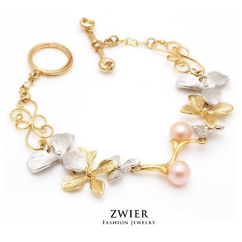 蘭花珍珠手鍊