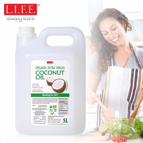 有機冷壓初榨椰子油5公升裝