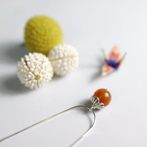光玉髓小桔子925純銀項鍊〈Carnelian/Cornelian Silver Necklace〉【ColorDay】