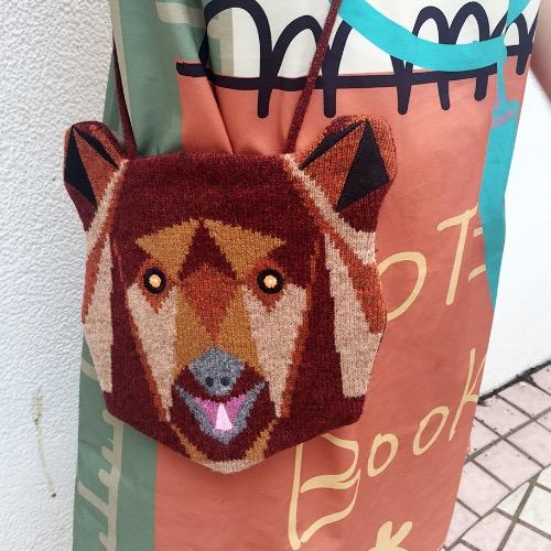 獨家針織啡熊斜背袋