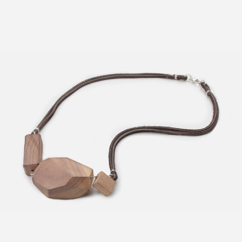 幾何木塊頸鏈素材套裝 / Wooden Geometric Necklace