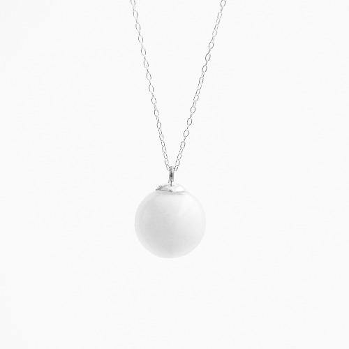 冬季特別版-白水泥雪球項鍊/頸鏈