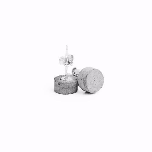圓形水泥耳環 - Classic經典系列