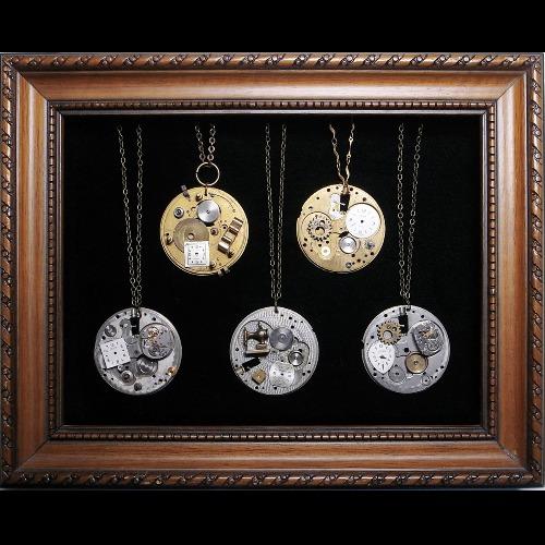 Steampunk pocket watch 袖珍博物款拼貼系列
