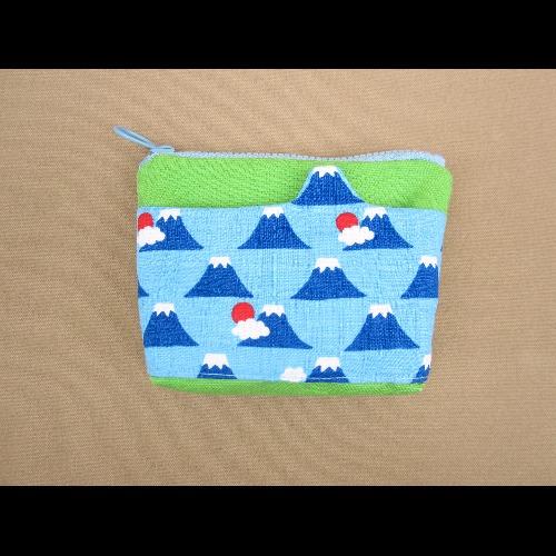 1+1=5/造型口袋零錢包/富士山天空藍