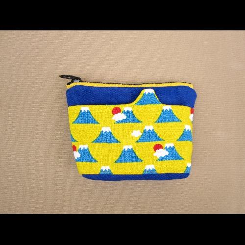 1+1=5/造型口袋零錢包/富士山黃
