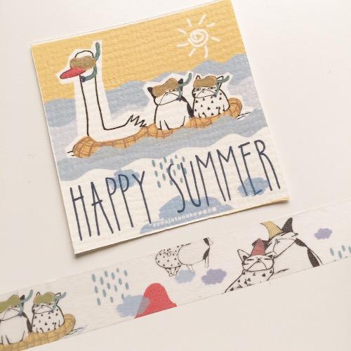 Happy summer 紙膠帶