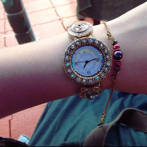 麋古_埃及艷后華麗珐瑯鑽錶