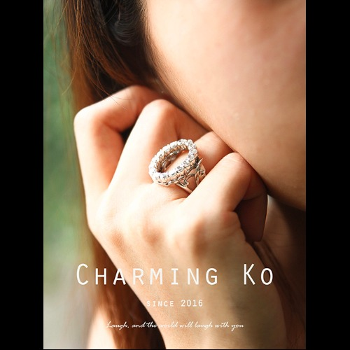 Charming Ko 獨創設計925純銀鋯石戒指