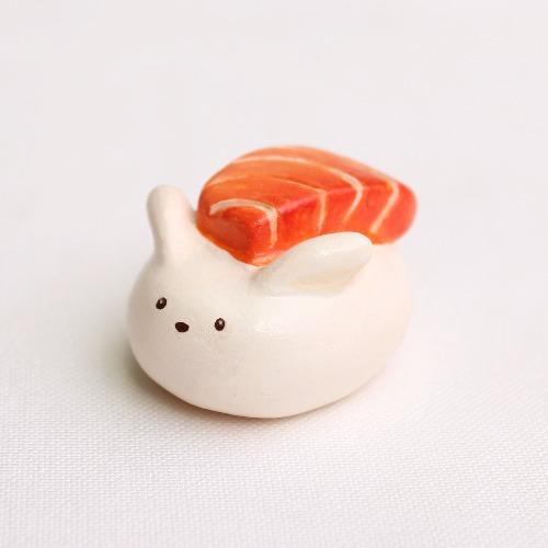 鮭魚壽司兔/擺設
