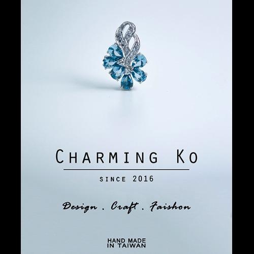 Charming Ko 925純銀鋯石吊墜人魚之淚