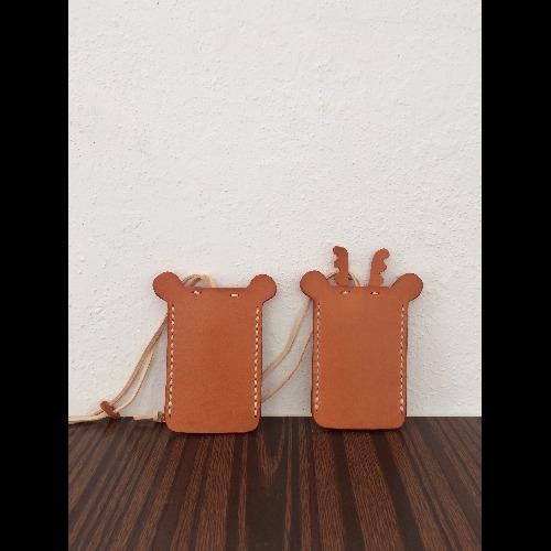 皮製小鑰匙圈套(小熊/小鹿) 《回禮小禮物/婚禮小禮物/生日禮物/伴手禮/手信》