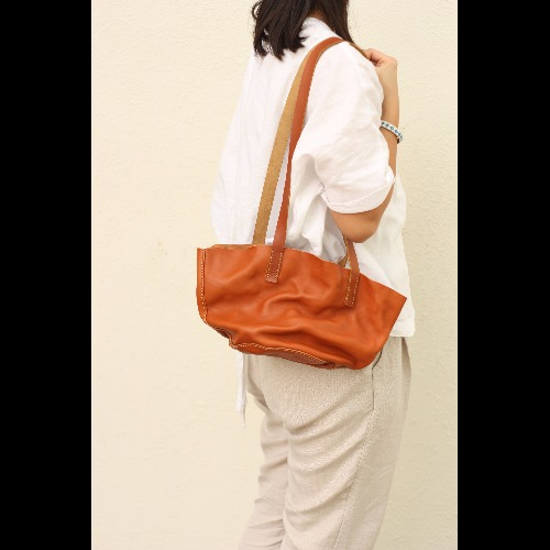 Minimalsite簡約手工縫製洗水托特包/ 手提包