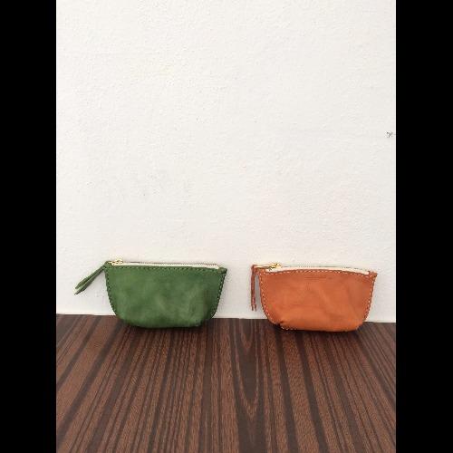 【絕版限量85折優惠】日系洗水品味 手工縫製皮革小錢包/ 零錢包 Made in Hong Kong by Minimaliste