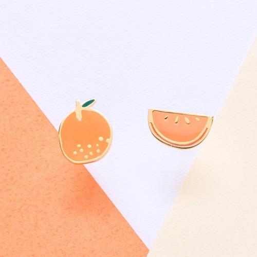Little OH! 桔子   橘子 手作耳環