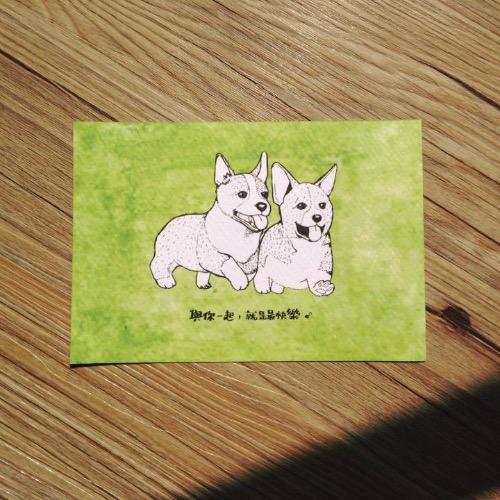 【動物系列】哥基兄弟明信片