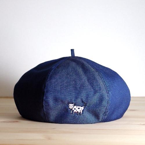 畫家帽 / 藍色牛牛款