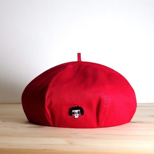 畫家帽 / 紅色斑比女孩款