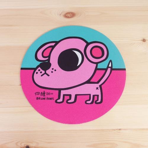 輕薄滑鼠墊 / 粉紅狗豆米