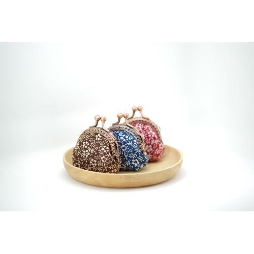 CaCa Crafts | 超迷你口金包【小花】三色入
