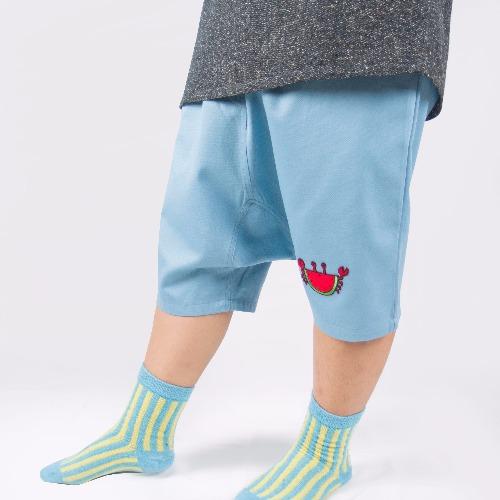 純棉低檔褲裙 / 藍色西瓜蟹