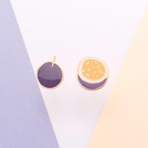 Little OH! 果汁之王 | 百香果 手作耳環