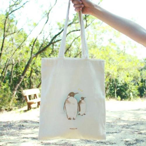 【動物系列】#5 仰望的企鵝 帆布袋