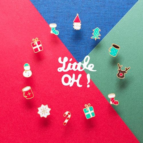 Little OH! 聖誕系列 手作耳環(聖誕禮物/聖誕樹/拐杖/雪人/可可/雪花/聖誕老人/聖誕許願襪/麋鹿)交換禮物 台灣設計