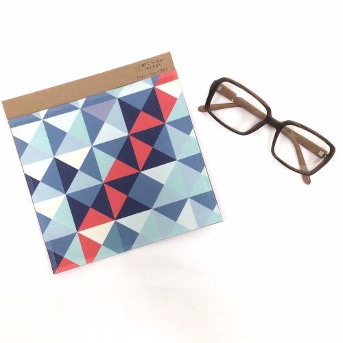 藍紅三角格紋 〔BYC印花萬用布〕ll 擦拭布