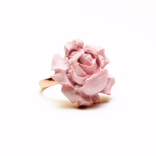 玫瑰花指環/戒指(粉色水泥) - Chloris 系列情人節特別版