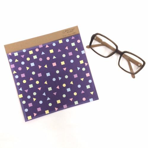 形狀派對(紫)〔BYC印花萬用布〕 ll 擦拭布